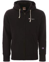 Champion Small Script Hooded Sweatshirt - Black