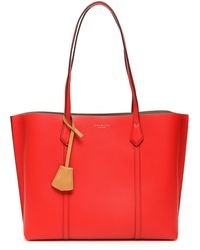 Tory Burch Tote bag Perry in pelle - Rosso