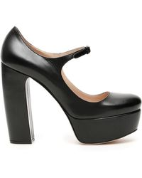 Miu Miu Platform Court Shoes - Black