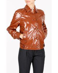 Prada - Waxed Jacket With Stitches - Lyst
