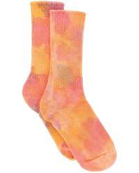 Collina Strada Tie-dye Organic Cotton Socks Os Cotton - Orange