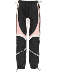 Versace Satin And Nylon JOGGER Trousers 38 Technical - Black