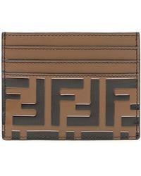 Fendi - Leather Ff Cardholder - Lyst