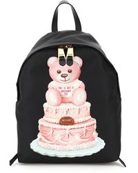 Moschino Cake Teddy Bear Backpack Os Faux Leather - Multicolour