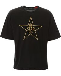 Dolce & Gabbana Cotton T-shirt With Patch - Black