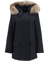 Woolrich Arctic Parka With Murmasky Fur - Blue