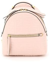 Fendi Nappa Ff Mini Backpack - Pink
