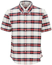 Thom Browne Tartan Shirt 1 Cotton - Blue