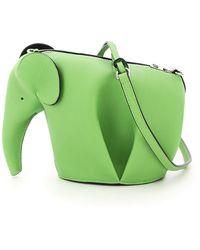Loewe MINI BAG ELEPHANT - Verde