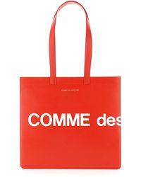 Comme des Garçons Borsa tote con logo enorme portafoglio (rossa) SA9001HL - Rosso