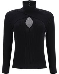 MSGM Sweater With Cut-out - Black
