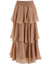Mes Demoiselles Medusa Skirt - Brown