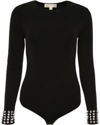 MICHAEL Michael Kors Bodysuit With Crystals - Black