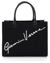 Versace - SHOPPING CANVAS LOGO SIGNATURE - Lyst