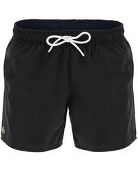 Lacoste Quick Dry Swim Trunks - Black