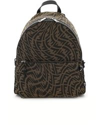 Fendi Ff Vertigo Fabric Backpack Os - Black