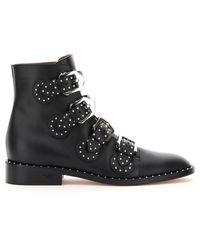 Givenchy Elegant Studded Ankle Boots 35 Leather - Black