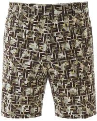 Fendi Ff Camouflage Bermuda Shorts - Multicolour
