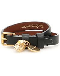 Alexander McQueen Thin Skull Bracelet - Brown