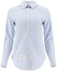 Thom Browne 4-bar Cotton Shirt - Blue