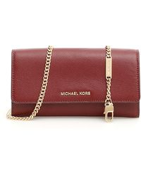 MICHAEL Michael Kors Wallet On Chain - Red