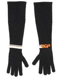 Prada Techno Nylon Long Gloves - Black