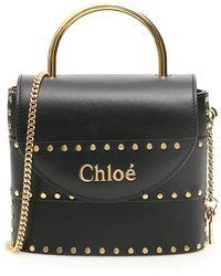 Chloé Small Aby Lock Studded Bag - Blue