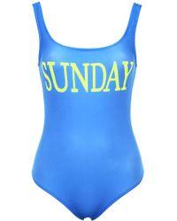 Alberta Ferretti - Sunday Lycra One Piece Swimsuit - Lyst