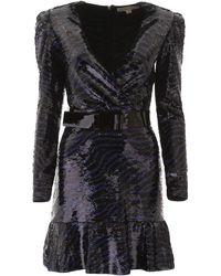 MICHAEL Michael Kors Tiger Sequins Dress - Black