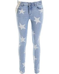 Stella McCartney Star Print Jeans - Blue