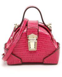 MANU Atelier Micro Demi Bag Os Leather - Pink