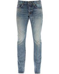 Saint Laurent Slim Fit Five Pocket Jeans - Blue