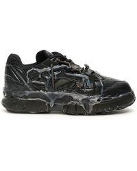Maison Margiela - Black Fusion Low Sneakers - Lyst