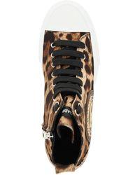 Dolce & Gabbana Dolce & Gabbana Portofino Sneakers With Leopard Print - Brown