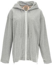 N°21 Oversized Sweatshirt With Logo - Gray
