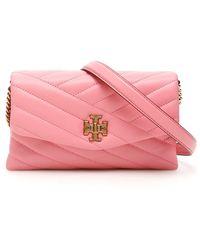 Tory Burch Chevron Kira Mini Bag - Pink