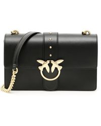 Pinko Love Simply 12 Bag Os Leather - Black