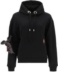Chloé Hooded Sweatshirt With Silk Bow - Black