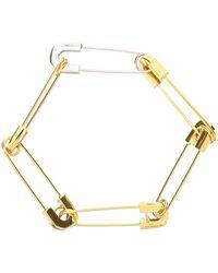 Ambush BRACCIALE SAFETY PIN LINK - Metallizzato