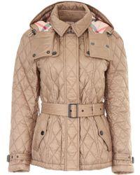 Burberry Short Finsbridge Jacket - Natural