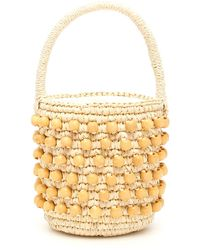 Sensi Studio Mini Wicker Bucket Bag - Natural