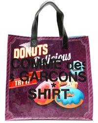 Comme des Garçons Pop Logo Shopping Bag Os - Red