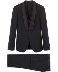 Tagliatore Three-piece Tuxedo - Black