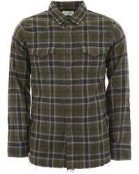 Saint Laurent Check Western Shirt - Green