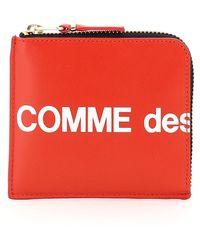 Comme des Garçons Comme Des Garcons Wallet Zip Wallet Huge Logo - Red