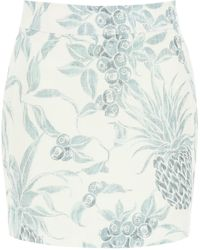 See By Chloé - MINI GONNA STAMPA SPRING FRUITS - Lyst