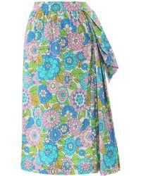 Dodo Bar Or Nora Midi Skirt - Blue