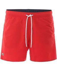 Lacoste Swim Trunks - Red