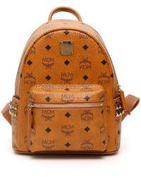 MCM Visetos Stark Backpack - Brown