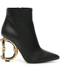 Dolce & Gabbana Dg 105mm Ankle Boots - Black